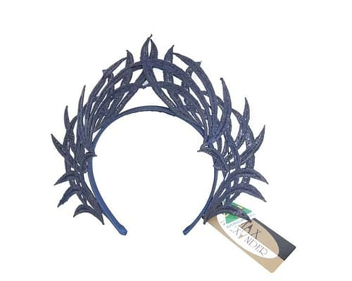 Fascinators Online - Navy lace crown 2