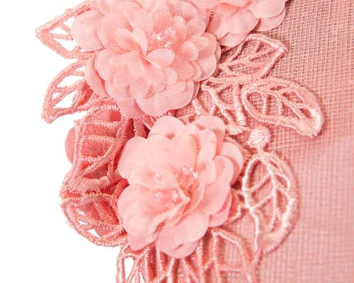 Fascinators Online - Pink pillbox with black lace by Fillies Collection 5