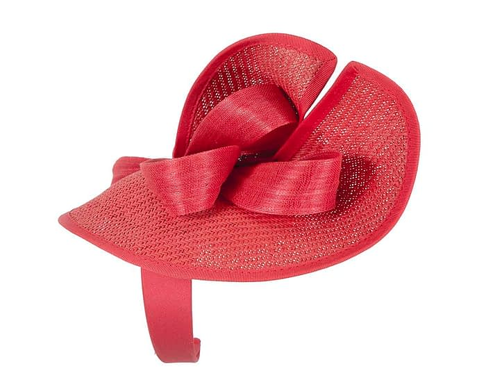 Fascinators Online - Red fascinator with bow by Fillies Collection 3