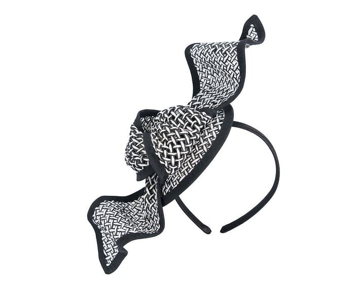 Fascinators Online - White and Black bow fascinator by Max Alexander 2
