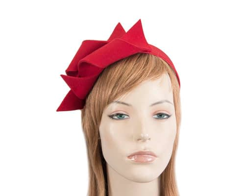 Fascinators Online - Red felt twisted fascinator by Max Alexander 79