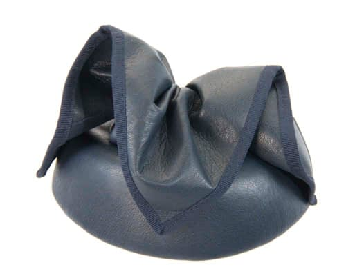 Fascinators Online - Navy leather pillbox fascinator by Max Alexander 6