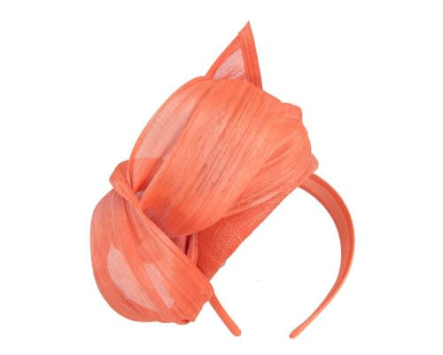 Fascinators Online - Orange pillbox fascinator with silk bow by Fillies Collection 4