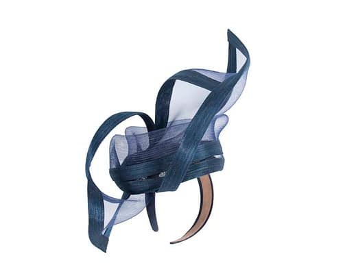 Fascinators Online - Edgy navy fascinator by Fillies Collection 3