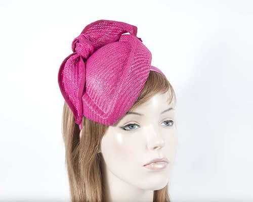 Fascinators Online - Fuchsia stewardess pillbox racing fascinator 24