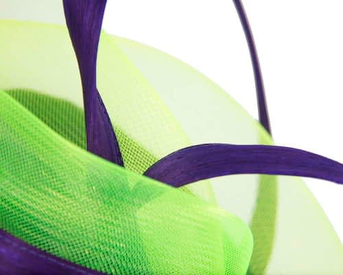 Fascinators Online - Edgy purple & lime fascinator by Fillies Collection 5