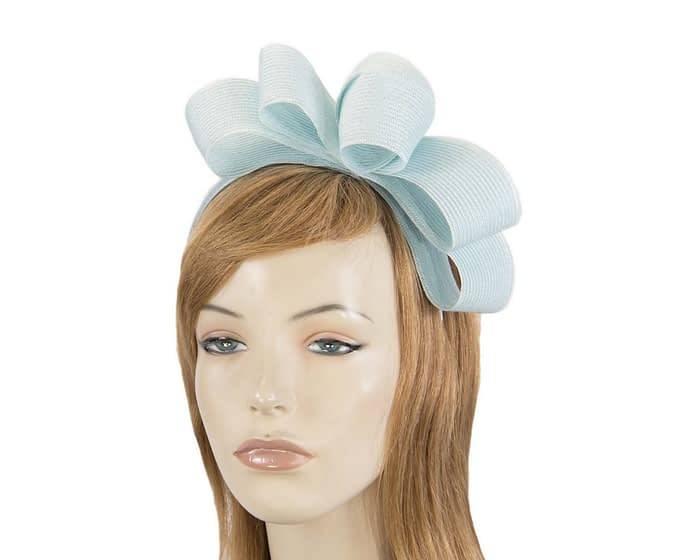 Fascinators Online - Large light blue bow racing fascinator by Max Alexander 1