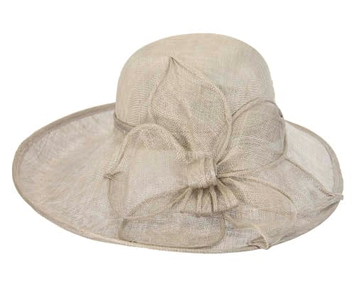 Fascinators Online - Large silver fashion hat by Max Alexander 4