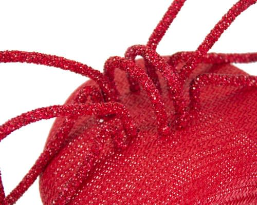 Fascinators Online - Bespoke red pillbox with bow by Fillies Collection 4