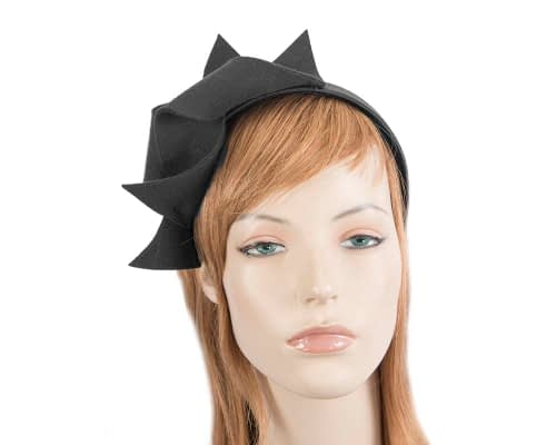 Fascinators Online - Black felt twisted fascinator by Max Alexander 82