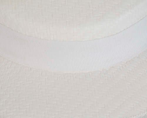 Fascinators Online - Small white boater fascinator hat by Max Alexander 5