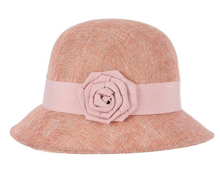 Fascinators Online - Dusty pink spring racing bucket hat 3