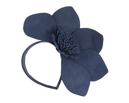 Navy felt flower fascinator J338N