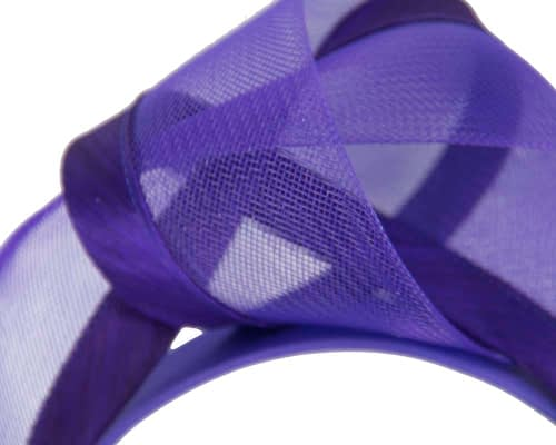 Fascinators Online - Purple turban headband by Fillies Collection 3