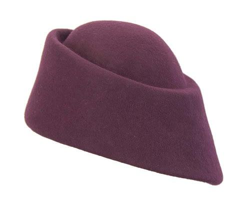 Fascinators Online - Designers burgundy felt hat 3