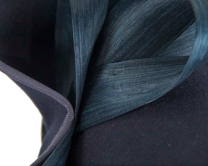 Fascinators Online - Felt navy twist with bow by Fillies Collection 6