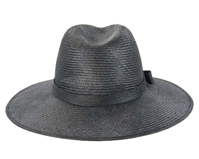 Black wide brim ladies hat