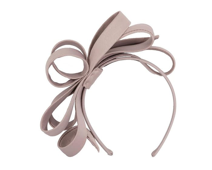 Fascinators Online - Taupe bow racing fascinator by Max Alexander 2