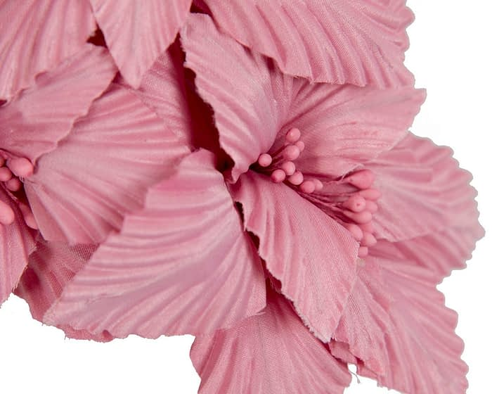 Fascinators Online - Dusty Pink sculptured handcrafted flower fascinator by Fillies Collection 3
