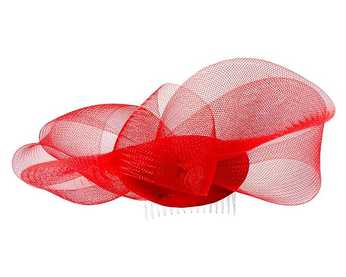 Fascinators Online - Red custom made Mother of the Bride cocktail hat 6