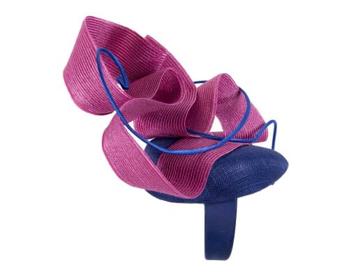 Fascinators Online - Designers royal blue & fuchsia racing fascinator by Fillies Collection 4