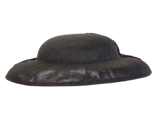 Fascinators Online - Black fashion boater hat with lace by Max Alexander 6