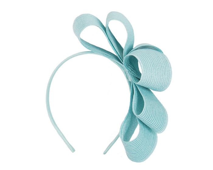 Fascinators Online - Large turquoise bow racing fascinator by Max Alexander 2