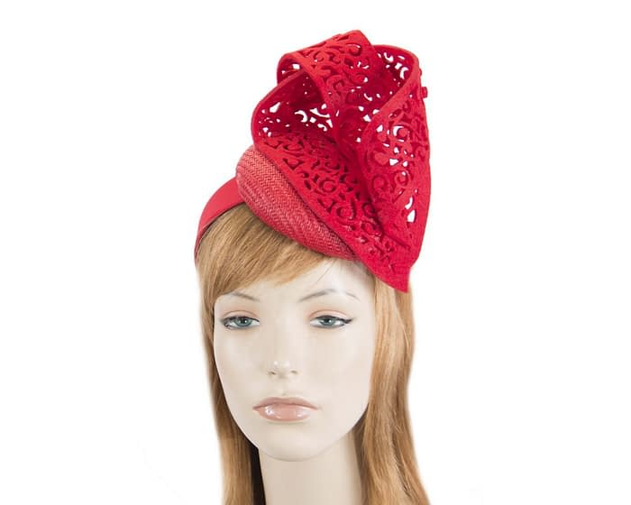 Fascinators Online - Red fascinator laser-cut trim by Fillies Collection 1