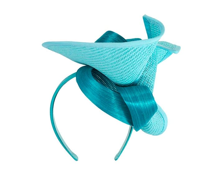 Fascinators Online - Turquoise fascinator with bow by Fillies Collection 6