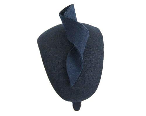 Fascinators Online - Wide navy designers headband winter fascinator by Max Alexander 5