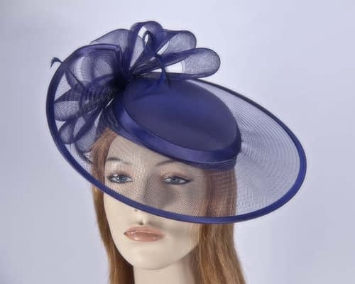 Navy mother of the bride hat