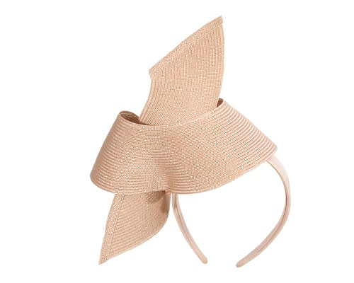 Fascinators Online - Stylish nude Australian Made racing fascinator by Max Alexander 6