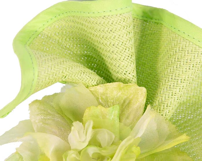 Fascinators Online - Bespoke large lime green flower fascinator by Fillies Collection 3