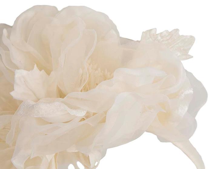Fascinators Online - Cream Silk Flower Fascinator by Fillies Collection 3