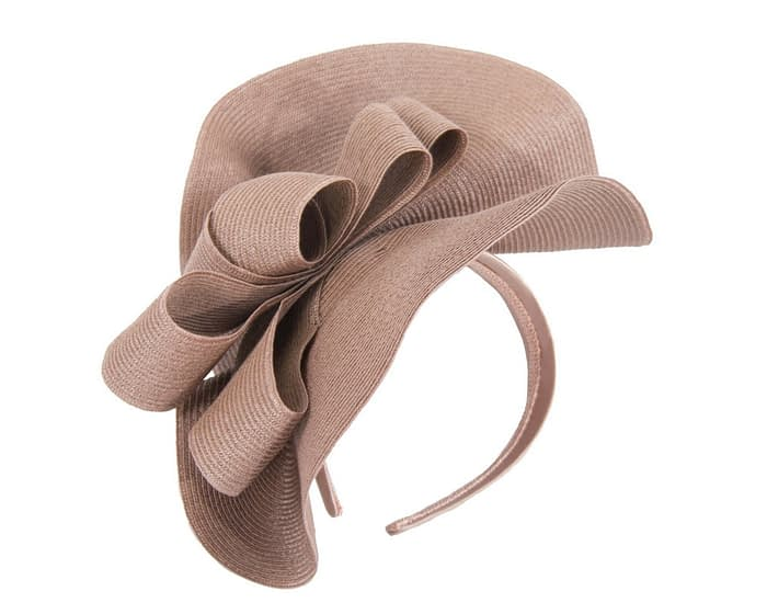 Fascinators Online - Large taupe fascinator with loops by Max Alexander 2