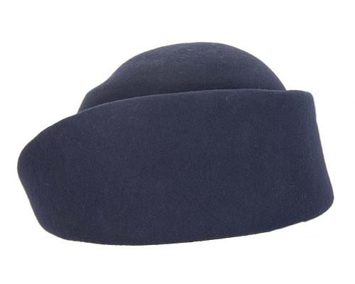Fascinators Online - Designers navy felt hat 3