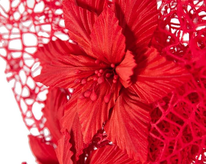 Fascinators Online - Red designers racing fascinator by Fillies Collection 3