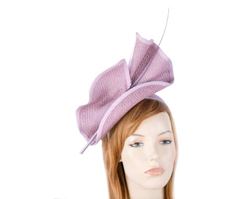 Fascinators Online - Modern Lilac racing fascinator by Max Alexander 3