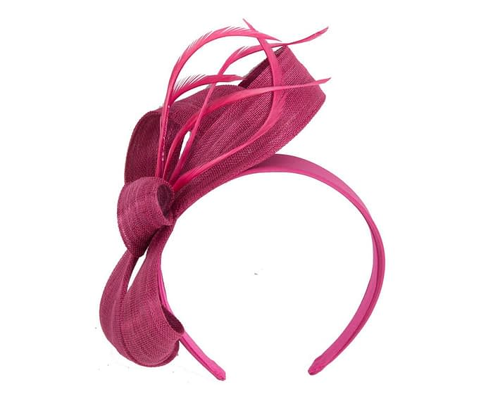 Fascinators Online - Fuchsia loops headband fascinator by Fillies Collection 2