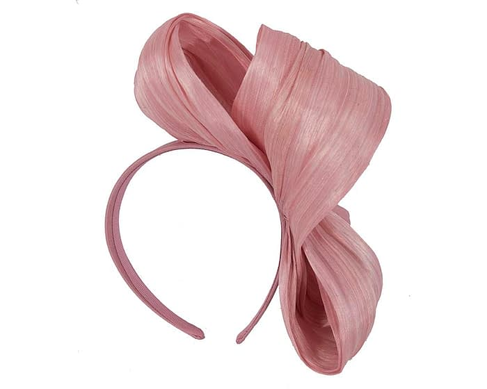 Fascinators Online - Dusty pink bow racing fascinator by Fillies Collection 4
