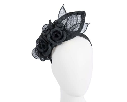 Fascinators Online - Large black flower headband fascinator by Max Alexander 49