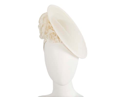 Fascinators Online - Large cream plate with flowers by Fillies Collection 1
