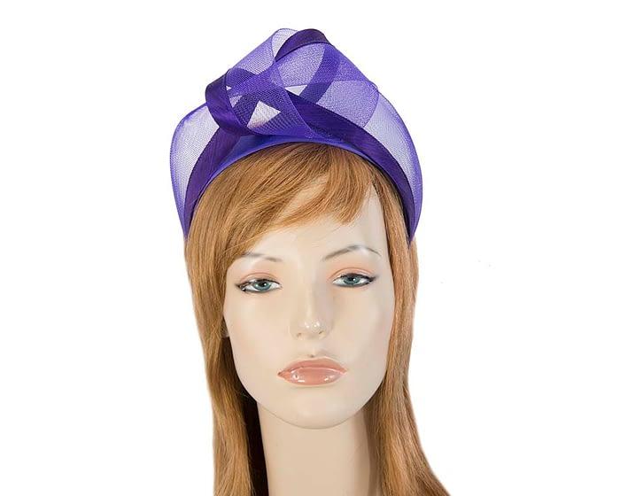 Fascinators Online - Purple turban headband by Fillies Collection 1