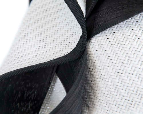 Fascinators Online - White & Black fascinator with bow by Fillies Collection 5