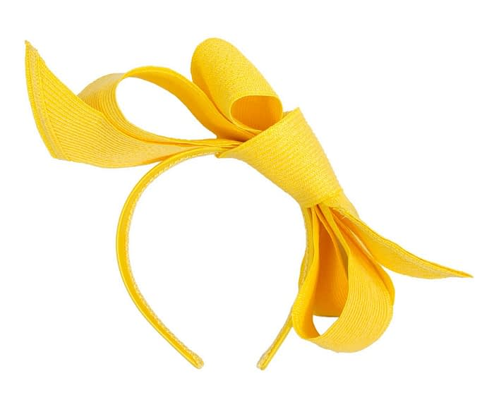 Fascinators Online - Large yellow bow fascinator by Max Alexander 4