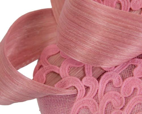 Fascinators Online - Pink pillbox fascinator with lace by Fillies Collection 5