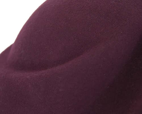 Fascinators Online - Designers burgundy felt hat 4