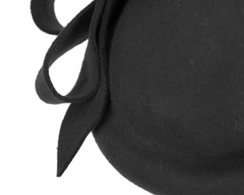 Fascinators Online - Large black felt fascinator hat by Fillies Collection 6