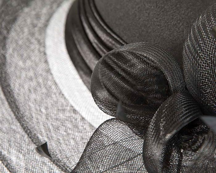 Fascinators Online - Black custom made Mother of the Bride hat 3
