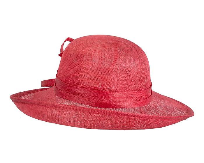 Fascinators Online - Red ladies sinamay racing hat by Max Alexander 3